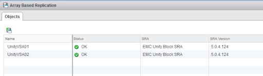 EMC UnityVSA with SRM configuration   JohannStander