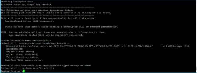 VSAN – on-disk upgrade error