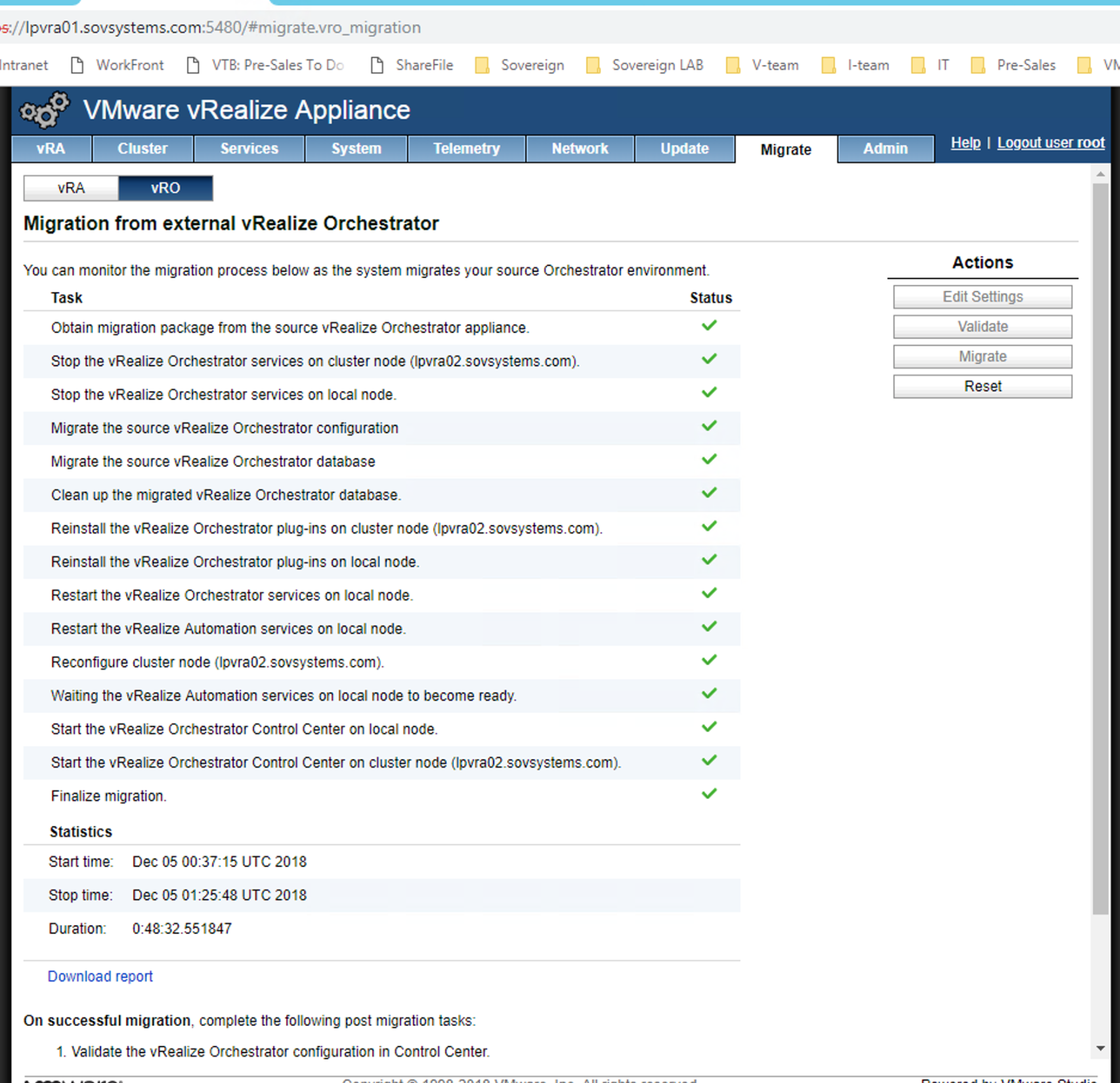 Upgrade VMware vRA to 7 5 and migrate external vRO to